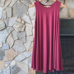 Urban Outfitters Dresses - UO Silence + Noise Swingy Tank Burgundy Red Mini